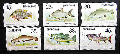 Zimbabwe 1989 Fish Sg756-11 U/m New Lower Price Fp2971