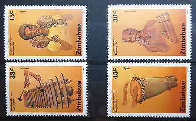 Zimbabwe 1991 Musical Instruments Sg804-9 U/m New Lower Price Fp2974