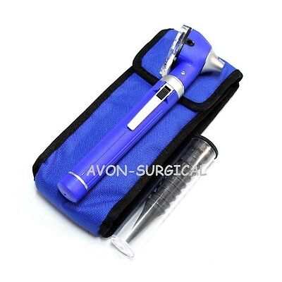 NEW Mini Fiber Optic Otoscope Blue (Pocket Size) Medical Ent Diagnostic Set A+