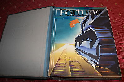 3 Fortune Magazines  from 1938 - Bound set - Anique Ads  Color pictures