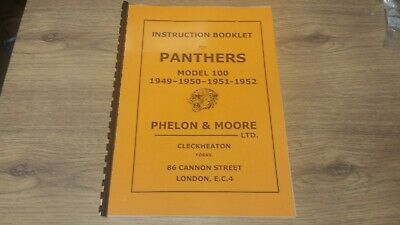 P & M Panther 100 Instruction booklet 1949-52 copy of original PAN03