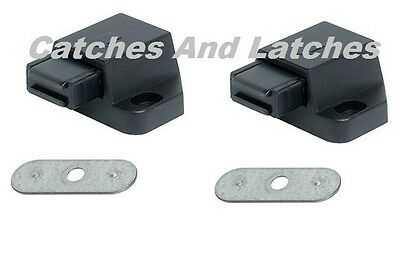 2 x Magnetic Catches Pressure Touch Push to Open Kitchen Cabinet Cupboard Doors
