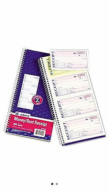 Adams Wirebound Money Rent Receipt Books for Accurate Record Keeping - New Item