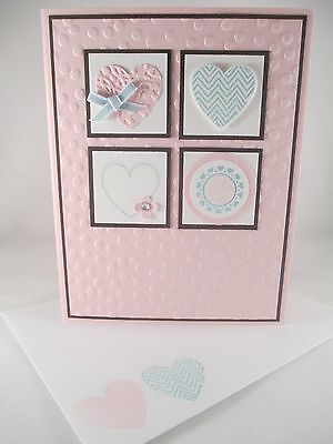 """Stampin Up """"Hearts a Flutter"""" Handmade Valentines Card"""