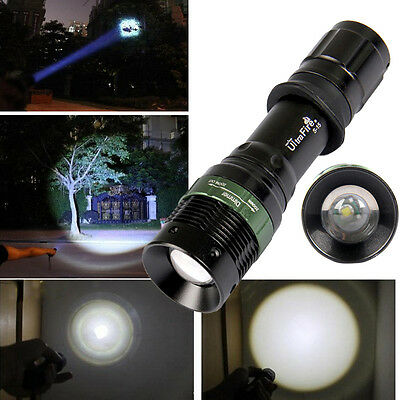 NEW 2000LM CREE XM-L T6 LED Zoomable 18650 Flashlight Torch Focus Lamp Light