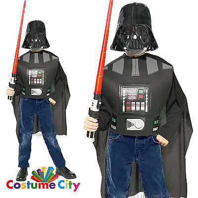 Kids Darth Vader Blister Set Official Licensed Star Wars Fancy Dress Costume