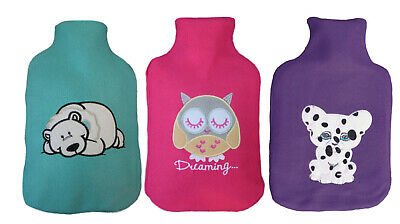 Animal Applique Fleece Hot Water Bottle