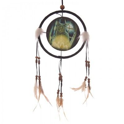 Attrape Reves Dreamcatcher Noir Chat Ensorcelant Par Lisa Parker Diametre 16 Cm