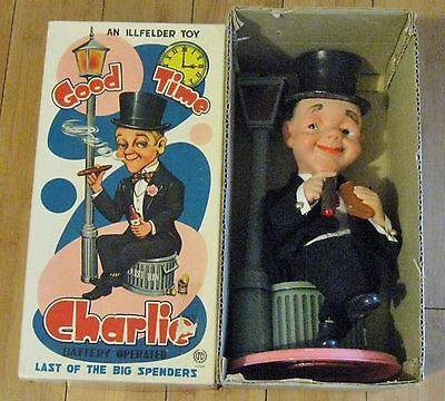 """Vintage """" Good Time Charlie """" Battery Operated Tin Toy by ILLFELDER !!"""