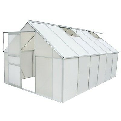 GREENHOUSE POLYCARBONATE AND ALUMINIUM FRAMED 9,27 m2