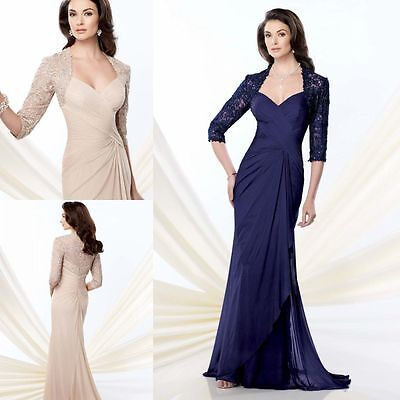 Woman's Formal Evening Dresses Prom Gown Mother of the Bride Custom Made All Sz