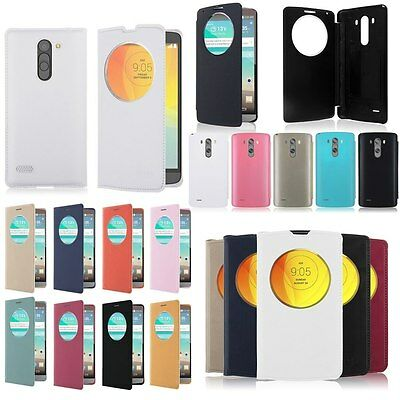 Window View Flip Battery Housing For LG Phones Case Cover Leather Quick Circle