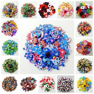 NEW 100pcs Shoe Charms fit for for for CRoc&Jibbitz Silicone Wristband Bracelet