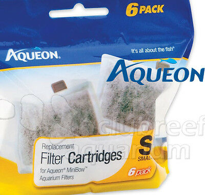 Aqueon Size Small Replacement Filter Cartridge 6 Pack for MiniBow Aquarium