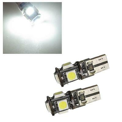 1 x Pair 5 SMD LED Sidelight Bulbs 6000K 501 W5W T10 - VW Volkswagen Lupo & Polo