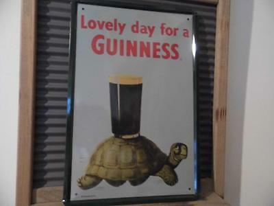 Retro Vintage Metal Sign Advertising Plaque Tortoise *lovely Day For A Guinness*