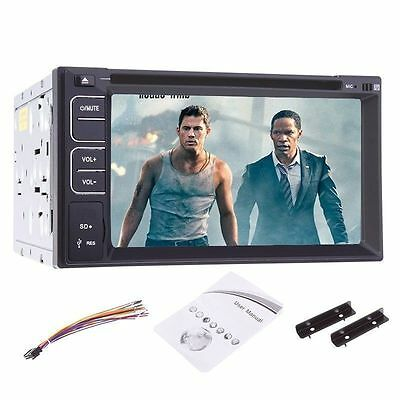 "HD 6.2"" In Dash 2 DIN Car Stereo CD DVD MP3 Stereo Player Radio USB Bluetooth"
