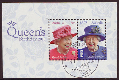 Australia 2015 Queens Birthday  Miniature Sheet Fine Used
