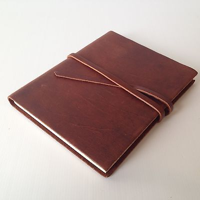 RUSTICO Venture Notebooks Leather Journals w/ Strap and Dot Grid Gifts Saddle