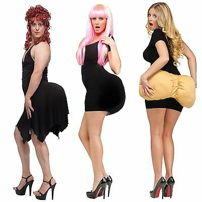 Fake Butt Halloween Costume Adult Womens Mens Drag Fat Big Ass Padded Booty NEW