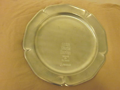 1968 Chrysler Corporation World Series Detroit vs. St. Louis Plate NRMT