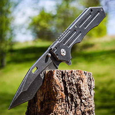 "9"" TANTO Karambit Blade SPRING ASSISTED OPEN Combat FOLDING POCKET KNIFE Switch"