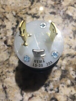 NEMA L5-30 30A 125V POLE 3 WIRE Generator LOCKING PLUG  L5-30P male usa seller