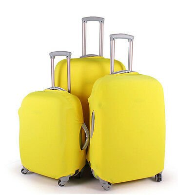 "22""~26"" Candy Yellow Durable Elastic Protector Dust-proof Luggage Suitcase Cover"