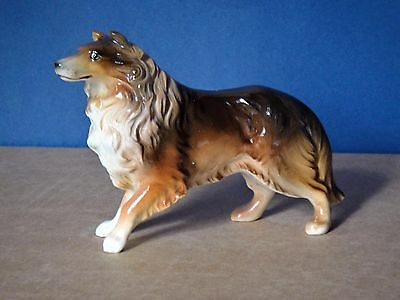 Vintage Japan Clover Collie Dog Figurine