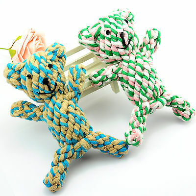 1PCS Pet Puppy Mix cotton ROPE Bear toys grinding clean teeth dog Chew Toy  67