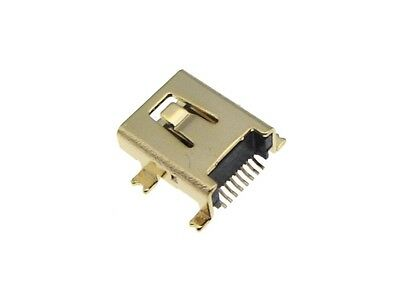 8P Mini USB Female Connector SMD Surface Mount - Pack of 5