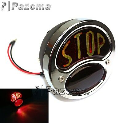Motorcycle Round Stop Classic Tail Light Lamp Custom Softail Road King Glide