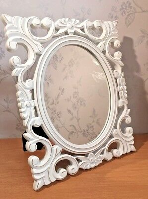 French Chic White Distressed Freestanding Mirror LP21734