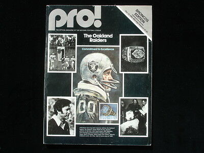 December 14, 1980 Pro! NFL Magazine Denver Broncos Edition