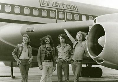 LED ZEPPELIN - AIRPLANE - FABRIC POSTER - 30x40 WALL HANGING 51728