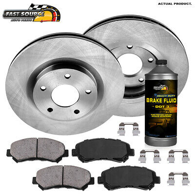 Front Brake Rotors and Ceramic Pads For 2008 2009 2010 2011 2012 2013 ROGUE