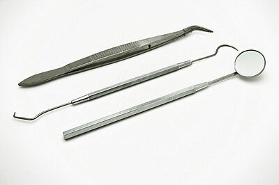 3pc Handle Stainless Teeth Cleaning Tooth Steel Dental Oral Tool Pick Pic Scaler