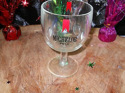 Michelob Beer Drinking Goblet With 1 Additional Michelob Pilsner Glass