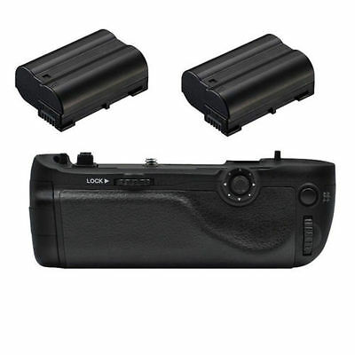 Multi Power Battery Grip Pack for Nikon D750 DSLR + 2x EN-EL15 Battery as MB-D16
