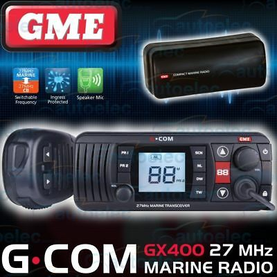 Gme Boat Marine 27Mhz Radio Waterproof Cb Tinnie Tinny Fishing Gx400 Black