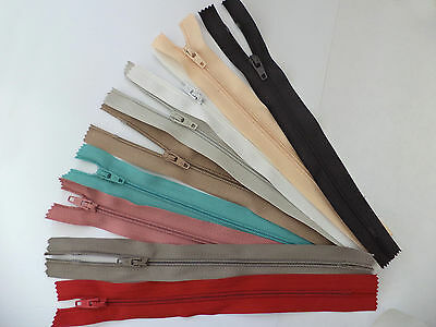 5 x Nylon Closed End Skirt, Dress, Cushion Zips, Good Quality, Lots of Colours