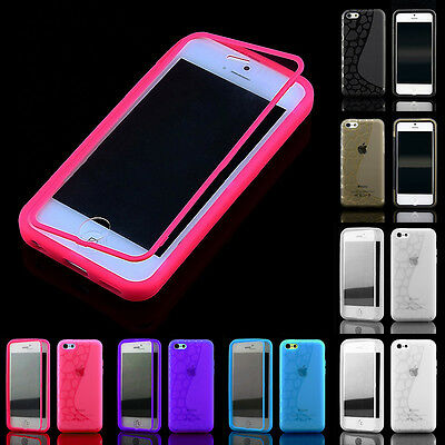 Slim Crystal Clear TPU Gel Silicone Flip Case Cover For iPhone5c