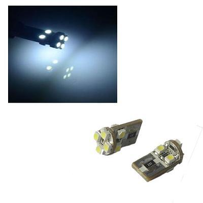 1 x Pair Canbus 8 SMD LED Sidelight Bulbs 6000K 501 W5W T10 Error Free - VW EOS