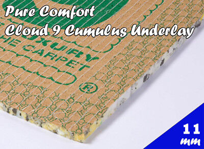 Premium Luxury Comfort Cloud 9 11mm Thick Foam Carpet Underlay Various Sizes