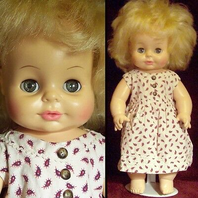 "Vintage ©1971 Horsman 15"" Sleep Eyes Vinyl Baby Girl Doll"