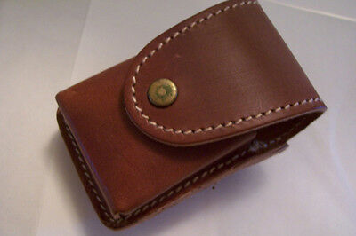 BROWN LEATHER LIGHTER CASE FOR ALL COLIBRI LIGHTERS $40 GIFT