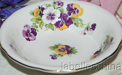 "Hammersley England Perfect Pansies 6.5"" Oatmeal / Soup Bowl Bone China"