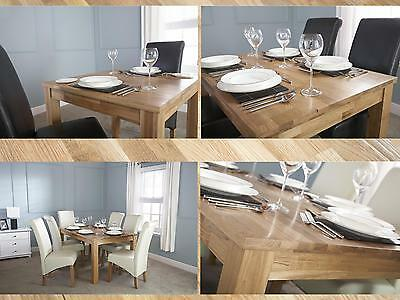 Solid Oak Dining Table - Butchers Block Top Design - 3ft 4ft 5ft - Seats 4 to 8