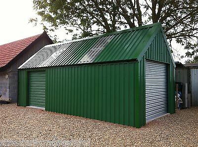 Garage/workshop Building - Steel Build Masters - 45 Degree Roof Pitch