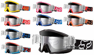 FOX MAIN MOTOCROSS MX GOGGLES with GSVS ROLL OFF CANISTERS enduro bike